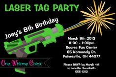 Free printable laser tag party invitations newsinvitation nice laser tag birthday party invitations get more invitation ideas at http www drevio com filmwisefo