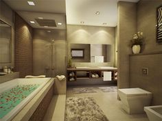 MASTER BATHROOM Designer: F-41 Lights are a perfect medium to draw out the refined beauty of the materials.