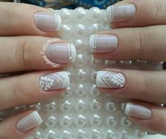 French Nail Art, Bright Nails, Finger, Toe Nails, Pedicure, Nail Designs, Make Up, Bride Nails, Nail Colors