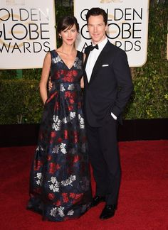 Pin for Later: Hollywood's Hottest Couples Take Over the Globes Red Carpet Benedict Cumberbatch and Sophie Hunter