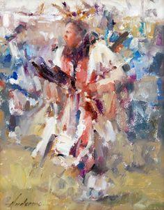 fine oil native american paintings | Boy Celebration: Fine art oil portraiture painting of Native American ...