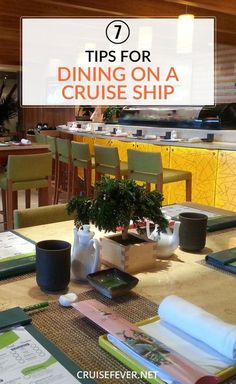 "One of the things I love most about cruising is the food.  And while I don't consider myself a ""foodie"", I love the freedom and choices I can get.  But not everyone realizes what options are available, so here are a few tips for eating on a cruise ship that will make your vacation even more enjoyable."