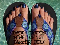 """@TawdryTerrier """"Night of the Barking Dead"""" - 2 bottles available at https://www.etsy.com/shop/TawdryTerrier #nailpolish #indienailpolish #tawdryterrier #halloween"""