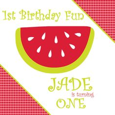 Red Watermelon Summer Picnic Invitation  by PurpleTrail.com
