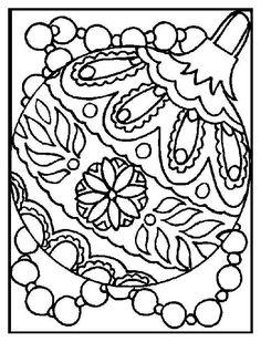 Boule de noel coloriage à imprimer gratuit