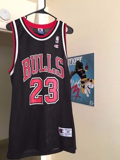 bfe36575 Vintage 90s Michael Jordan #Chicago Bulls #NBA Black Champion Jersey 40  (medium)