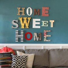 2016 was the year I was finally figured out what to do with my giant wall in my living room-- thanks to entire aisle @michaelsstores of alphabet letters. #homesweethome #madewithmichaels