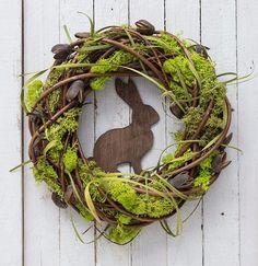 Rustic Easter wreath, spring decorations, natural Easter decor Easter wreath with rabbit spring door decorations moss decor spring wreaths Moss Wreath, Diy Wreath, Grapevine Wreath, Diy Garland, Oster Dekor, Selling Handmade Items, Outdoor Wreaths, Diy Ostern, Spring Door