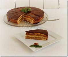 Zserbó-torta. Hungarian Recipes, Hungarian Food, Fika, Tiramisu, Waffles, Bacon, Deserts, Food And Drink, Sweets