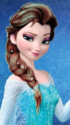Elsa - Brown Hair Color wallpaper with a headshot in The Frozen Club Disney Princess Fashion, Disney Princess Quotes, Disney Princess Pictures, Frozen Images, Frozen Photos, Princesa Disney Frozen, Disney Princess Frozen, Elsa Frozen, Frozen Movie