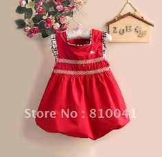 Wholesale 6 Pcs Baby Girl Cotton Flower Bow Dress For Summber Free Shipping Big Discount 0614005 BD-in Dresses from Apparel & Accessories on Aliexpress.com