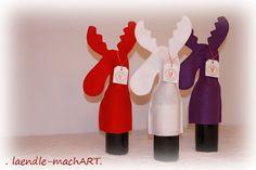 Elch, Wein verpacken, originell, Weihnachten
