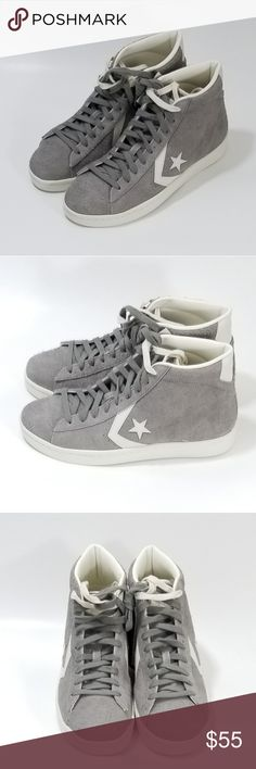 Converse Pro Leather 76 OX Youth Sneakers Wolf Grey//White//White