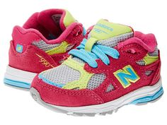 New Balance Kids 990v3 (Infant/Toddler) Silver/Pink - Zappos.com Free Shipping BOTH Ways