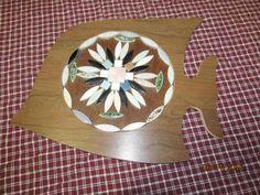 Vintage Folk Art Ceramic Tile Fish Pot Holder Trivet Wall Hanging Decor by EvenTheKitchenSinkOH on Etsy