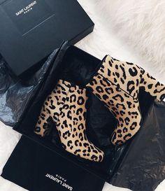 Boots Saint Laurent Leopard