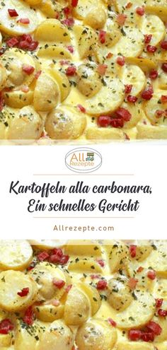 Food And Drink 687150855632520308 - Kartoffeln alla carbonara, Ein schnelles Gericht – All Rezepte Source by Gluten Free Recipes For Dinner, Easy Soup Recipes, Easy Dinner Recipes, Easy Meals, Easy Chicken Pot Pie, Chicken Bites, Quick And Easy Soup, Vegan Dinners, Food Porn