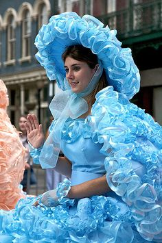 https://flic.kr/p/51TUA1 | Azalea Trail Maid | The Azalea Trail Maids are the official hostesses of Mobile. You wouldn't believe the stress involved for girls as to whether or not they will make it. Then the time and money spent on those dresses....then wearing those dresses in August without 'perspiring.' I think I'd rather be in Baghdad with body armor. God love em.