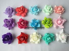 15 Colors 100pcs Fake Rose Heads Foam by HandcraftsInStudio