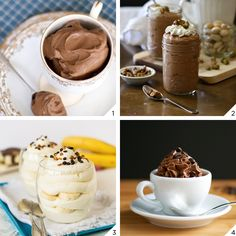 Mousse de chocolate   4 receitas