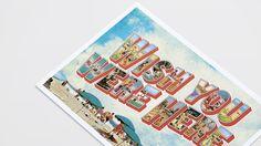 Mill Summer Party - Wish You Were Here Postcard Invitation design Alex Thursby-Pelham