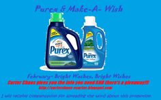 Spons: Carter Chaos: Make-A-Wish with Purex: February 2014 Purex is donating to Make-A-Wish! Stock up on detergent and fabric softener. Get started with this Laundry Detergent Giveaway (ends 2.7.14).