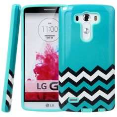 Amazon.com: LG G3 Case, LG G3 Chevron Design Case - Style4U Slim Fit Dual Layer Hybrid Armor Protective Case Cover for LG G3 with 1 Stylus [Turquoise / Mint Green]: Cell Phones & Accessories