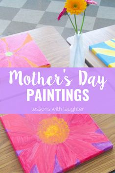 These flower paintings are a perfect Mother's Day gift!