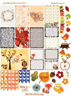 Foxy Fall Happy Planner Sticker Sheet