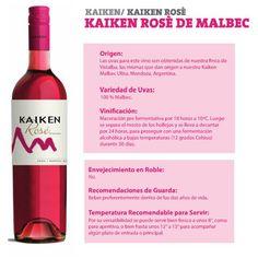 Nuestro encantador Kaiken Rosé de Malvec, Presenta un color rojo cereza, límpido y de gran intensidad.Con aromas frutales, ¡pruébalo! #VinosNobles #Wine #WineLovers