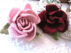 Lots of crochet roses patterns