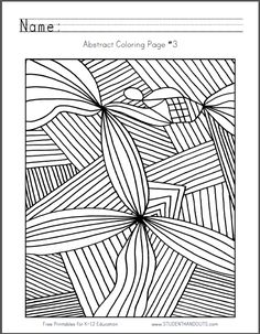 Abstract Coloring Page #3 | Free to print (PDF file).