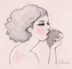 Pastel drawings - Clarissa Paiva