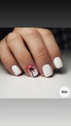 Nails for hawaii summer toe nails, summer beach nails, white summer nails, beach Beach Nail Designs, Nail Art Designs, Nails Design, Beach Design, Summer Toe Nails, Fun Nails, Summer Beach Nails, Beach Vacation Nails, Summer Shellac Nails