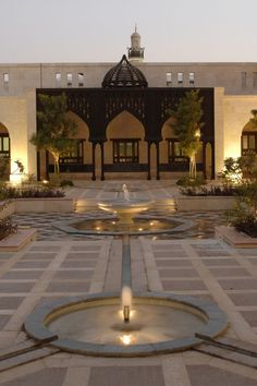 Ismaili Centre, Dubai Water courses through channels, inlaid in the Takhtabosh Courtyard.