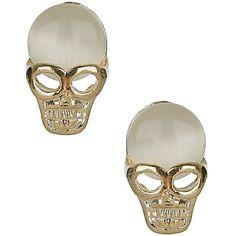 TOPSHOP Catseye Skull Stud Earrings ($12) ❤ liked on Polyvore