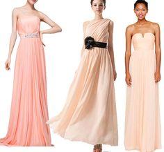 long peach bridesmaid dresses on Kissprom