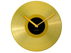Golden Record Wall Clock design by Karlsson