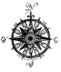 compass tattoo idea                                                                                                                                                      More