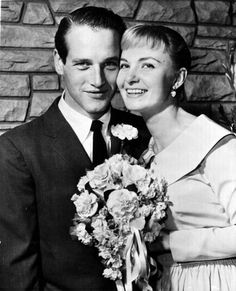 The wedding of Paul Newman and Joanne Woodward at The Little White Chapel in Las Vegas, January They were married for life and so in love! A true hollywood romance! Old Wedding Photos, Celebrity Wedding Photos, Celebrity Wedding Dresses, Celebrity Couples, Celebrity Weddings, Celebrity Pix, Celebrity Gallery, Hollywood Couples, Hollywood Wedding