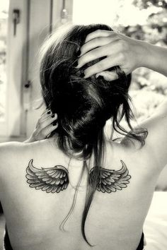 cute! ive always wanted wings but the wings i wanted took up my whole back, these are cute and maybe ill add a quote in the middle