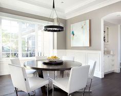 Contemporary Dining Room Wainscoting Design, Pictures, Remodel, Decor and Ideas - page 3