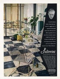 SALTERINI-Patio-Furniture-Ad-1951-White-Wrought-Iron