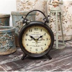 75zł, Zegarek Budzik Retro Belldeco czyli metalowy zegar stojący w kształcie budzika.