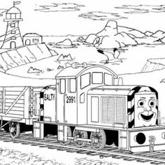 sprout character coloring pages | Thomas Coloring Page – Thomas & Friends Coloring Pages for ...