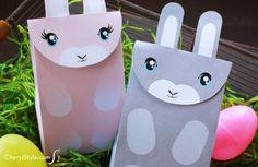 Printable bunny bag — perfect for Easter treats!