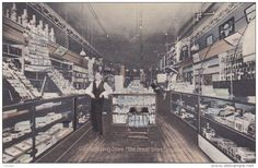 """Interior , Goodwin's Drug Store, """"The REXALL Store"""" , ITHACA , Michigan , PU-1910 Item number: 288387530 SCVIEW - Delcampe.com"""