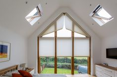 Duette Pleated Triangular Gable Blinds by Grand Design Blinds