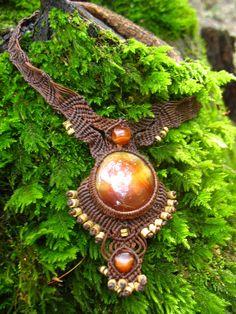 Micro macrame sun goddess by Tribal Treasures