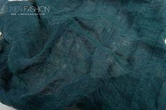 Greensh blue linen fabric, specially washed.  #linenfabric #washedlinen